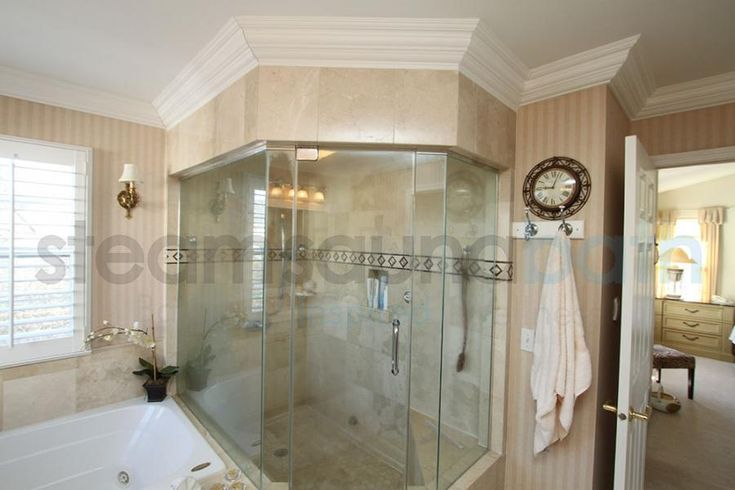 Large Home Steam Shower With Frameless Doors