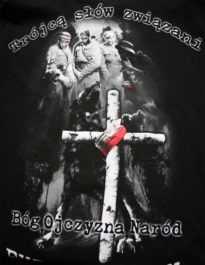Motyw patriotyczny na koszulce 'Żołnierze Wyklęci' ---> Streetwear shop: odzież uliczna, kibicowska i patriotyczna / Przepnij Pina!