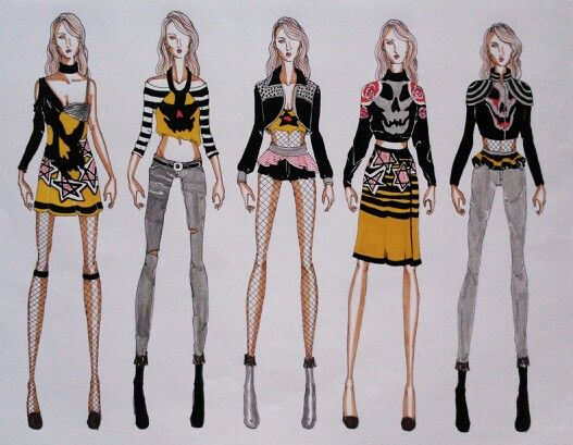 THE GURL WITH NO RULES #fashionillustration