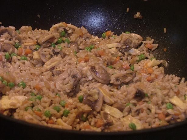 Fried Brown Rice Recipe - lots of options, tonight I made it without ...