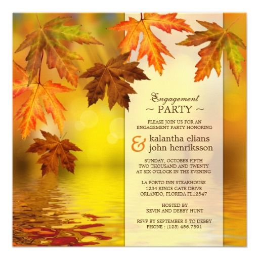 54 best Engagement Party Invitations images – Fall Party Invitation