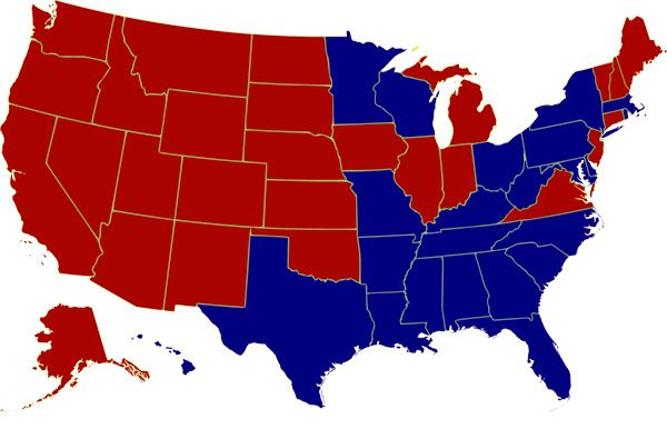 The 1976 United States Presidential Election Map: Jimmy Carter won with 50.1% of the popular vote and 55.2% of the electoral vote.