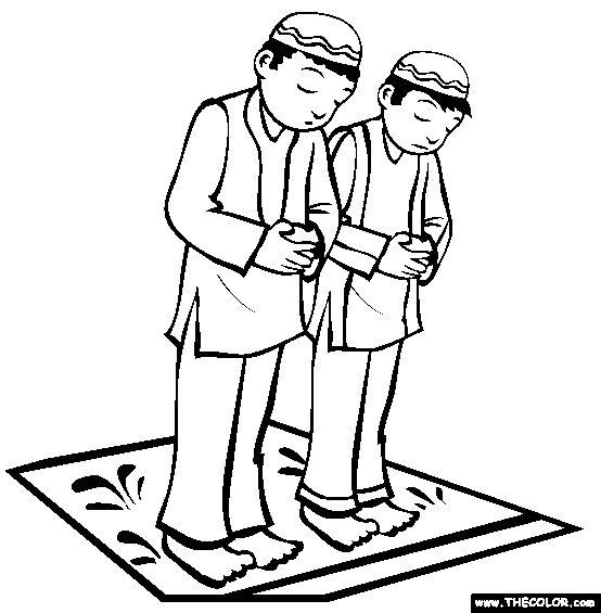 Praying Coloring Page | Free Praying Online Coloring