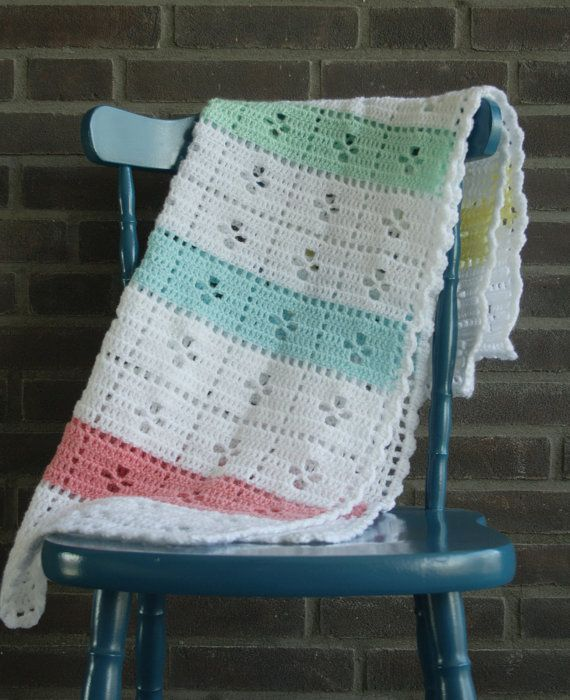 Call the midwife crochet baby blanket in white by SoHappyInRed