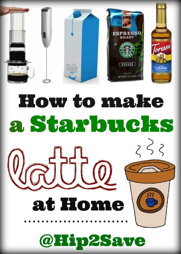 How to make a Starbucks latte right in your own home and save yourself some money!
