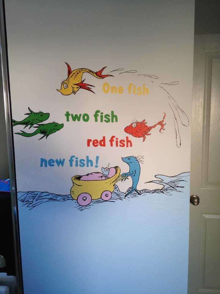 170 best images about preschool mural on pinterest for Dr seuss mural