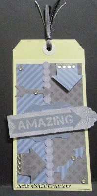 BaRb'n'ShEll Creations - Kaisercraft Off The Wall Large Tags - made by Shell