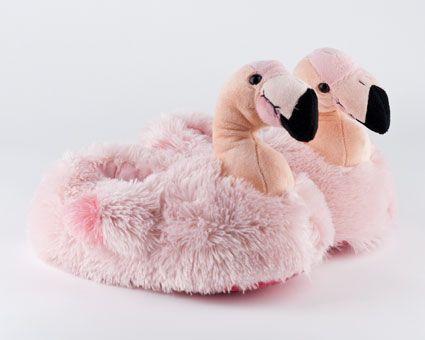 FOR RHO: Pink Flamingo Slippers | Bird Slippers, Animal Slippers | BunnySlippers.com