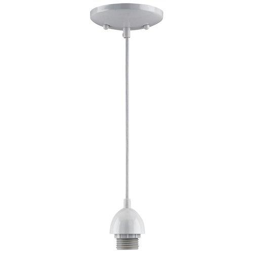White Pendant Track Lighting: Westinghouse 70286 Mini Pendant Light Kit, White