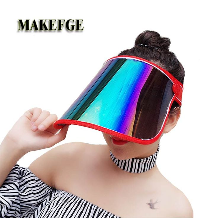 Cheap sun hat, Buy Quality summer sun hat directly from China neon sun visor Suppliers: Summer sun hat   anti-UV sunscreen bike cap summer Holiday Neon sun Visors Party hat clear plastic  Empty top cap