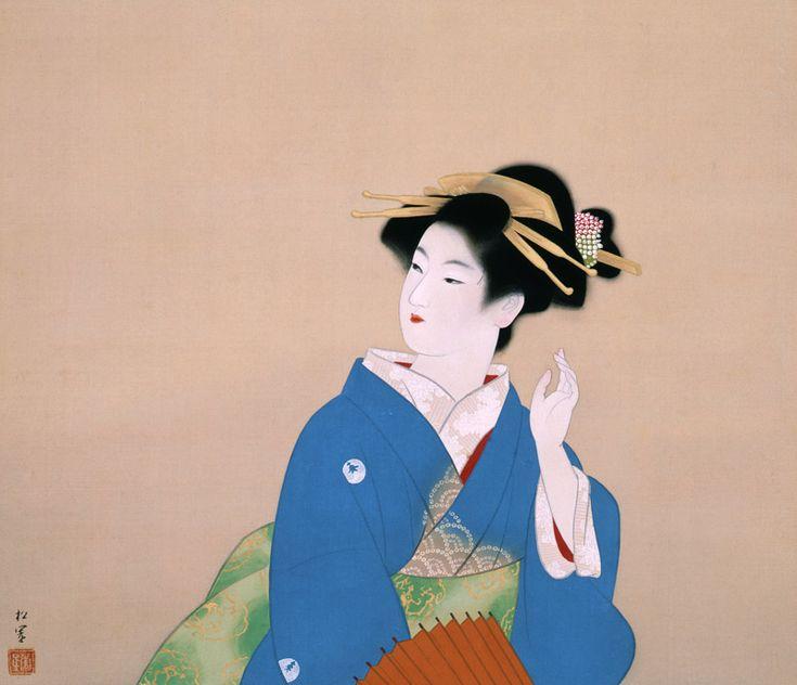 植村松園「杜鵑を聴く」 Shoen Uemura