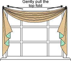 How to make scarf valances.  Can't wait to try this.