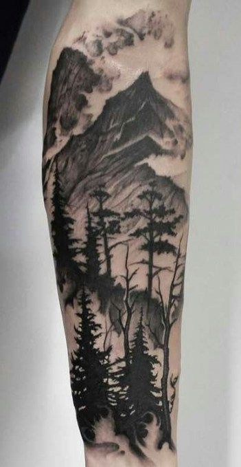 Tattoo Mountain Tree Forests Woods 38 Ideas
