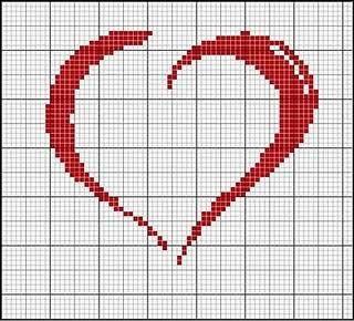 corações em ponto cruz - Pesquisa Google
