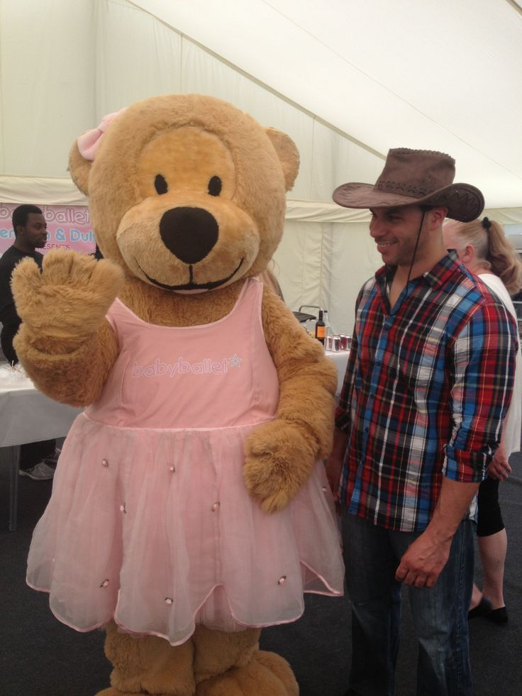 Twinkle the babyballet bear and Chuck the cowboy!