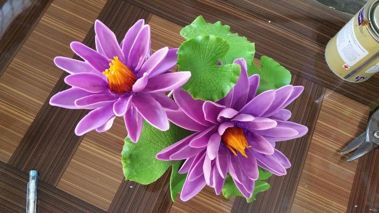 #Handmade #ThaiClay #WaterLily #Flower