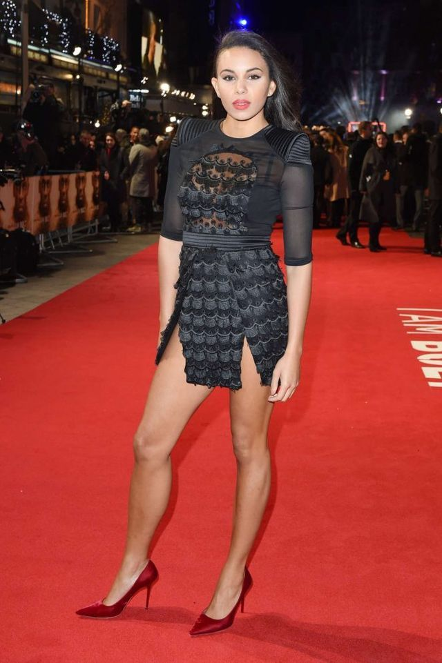 Splurge: Louise Hazel's I Am Bolt London Premiere $550 Zhivago Black Mere Mortal Dress