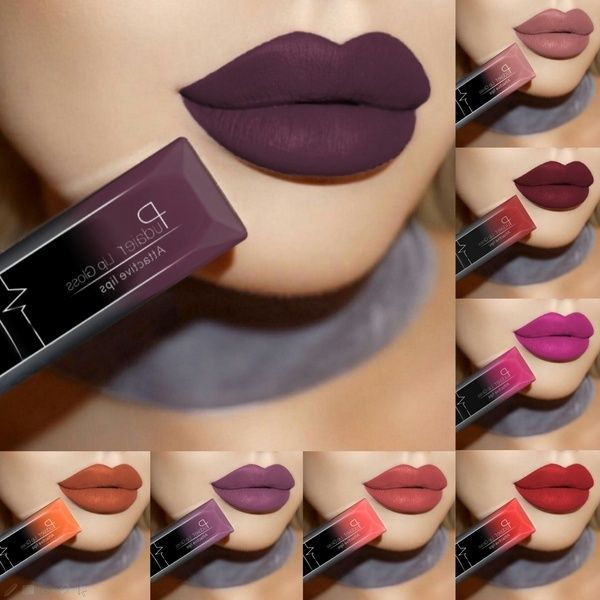 16 Colors Blood Red Matte Velvet Glossy Lip Gloss Lipstick Lip