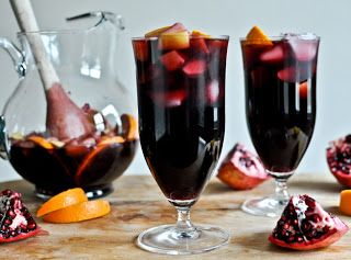 Pomegranate Vanilla Sangria shared by How Sweet It Is