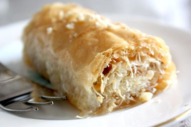Kadaif with Walnuts and Sugar Syrup- Macedonian Dessert  This is so good:))
