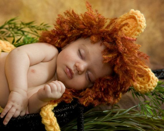 Lion Baby Hat Toboggan Beanie Gift Costume Crochet