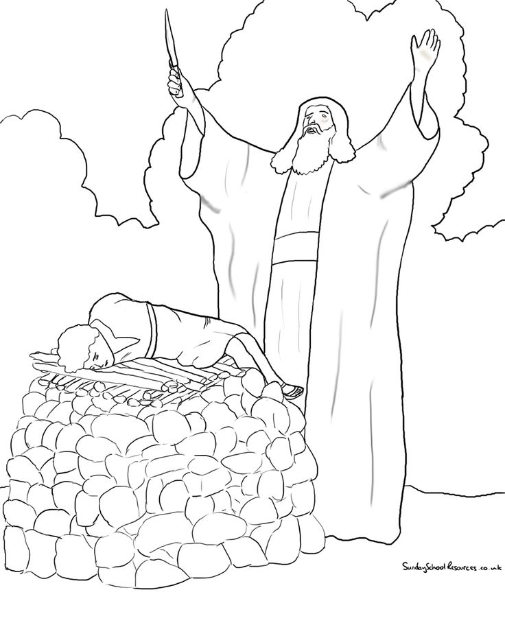 abraham and isaac sacrifice coloring pages | 1000+ images about ABRAHAM & ISAAC !!! on Pinterest ...
