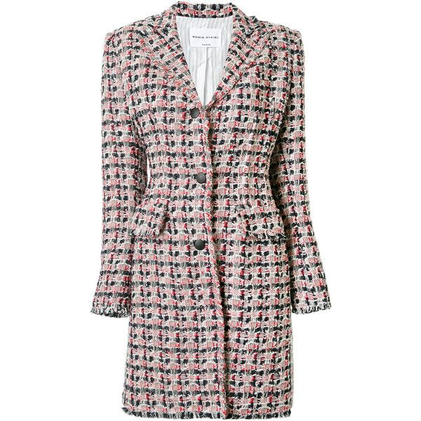 Sonia Rykiel tweed single breasted coat (41 520 UAH) ❤ liked on Polyvore  featuring