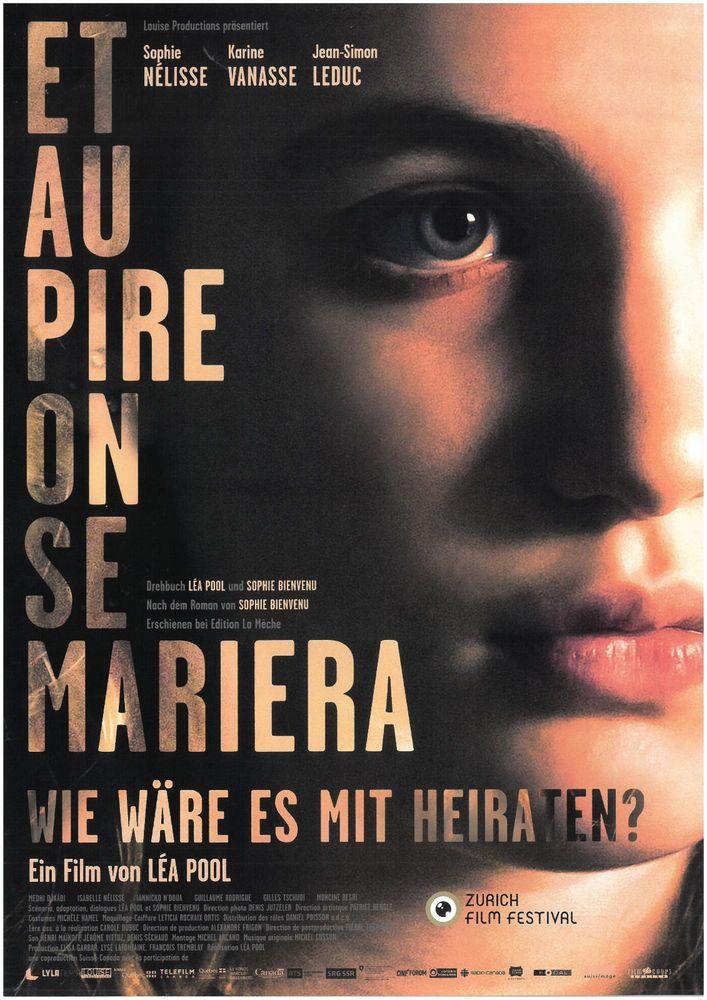 ET AU PIRE ON SE MARIERA 2018 - ORIG. FILMPOSTER A4 CINEMA AD