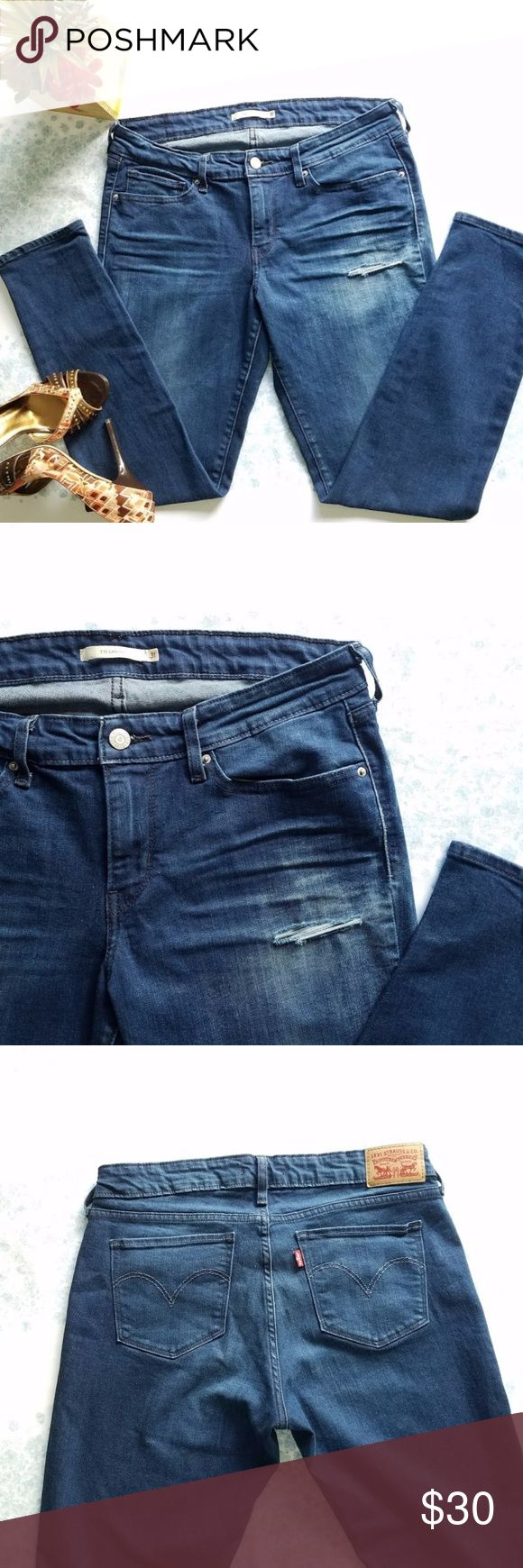 🚨ON SALE🚨Levi Strauss & Co 711 Skinny Jeans Wonderful medium wash skinny jeans from Levi Strauss. Ankle length with a rip detail on one side.  Worn once, in perfect condition! Levi's Jeans Skinny
