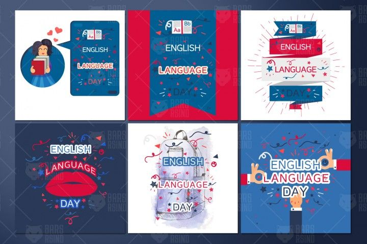 English Language Day Banners By Barsrsind Shop