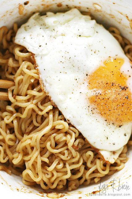 One of my 'go to' comfort meals: IndoMie Goreng with fried egg (though I actually prefer poached!)