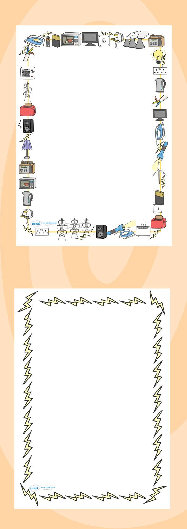 Little loops double page border free page borders - Twinkl Resources Electricity Page Borders Classroom Printables For Pre School