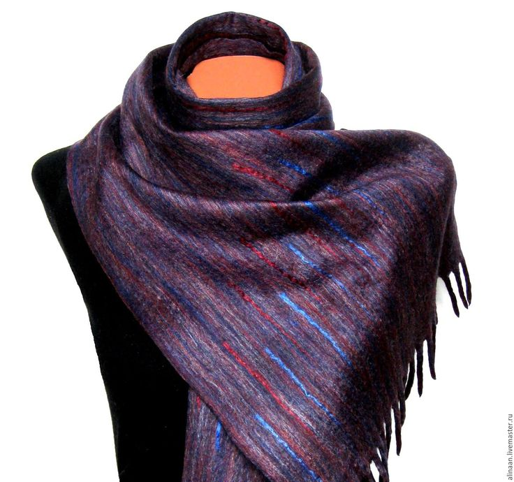 """Купить Шарф мужской валяный """"Ноктюрн-2"""" - абстрактный, шарф, шарф женский, шарф мужской"""