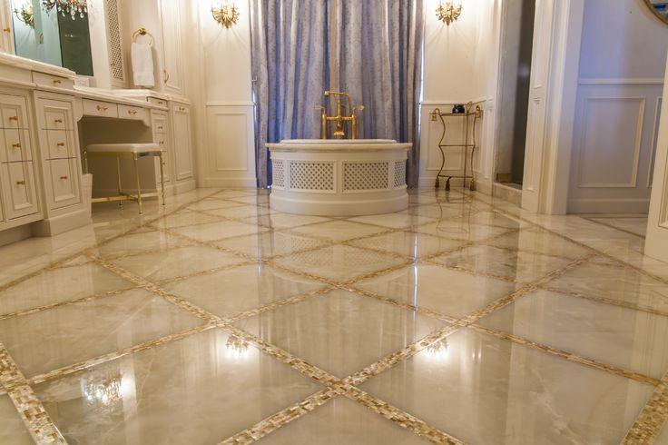 Возвышенное оникса столешницы украшая идеи для ванной комнаты традиционных дизайнерских идей возвышенного перламутр