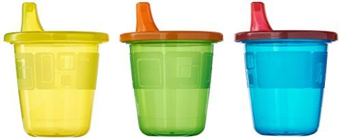 The First Years Take & Toss Spill-Proof 7 Ounce Cups 6 ea Assorted Colors - Spill proof cup. Ideal for drinks on the go. These training cups are durable enough to use and reuse yet affordable enough to treat as disposable. The easy sip spout lids are spill proof for easy traveling and are valve free for easy cleaning. Dishwasher safe. For babies 9 months and up. Assorted...