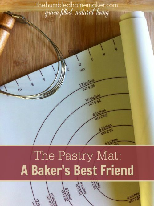 A silicone pastry mat simplifies and streamlines my baking routine. It provides a large work space for rolling out dough for pie crusts, biscuits, and yeast breads. And it's super easy to clean up!