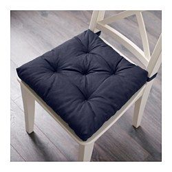 IKEA - MALINDA, Stuhlkissen, blau, , Klettband hindert das Stuhlkissen am Verrutschen.Die Kissen sind beidseitig verwendbar und halten daher länger.Kann in der Maschine gewaschen werden.