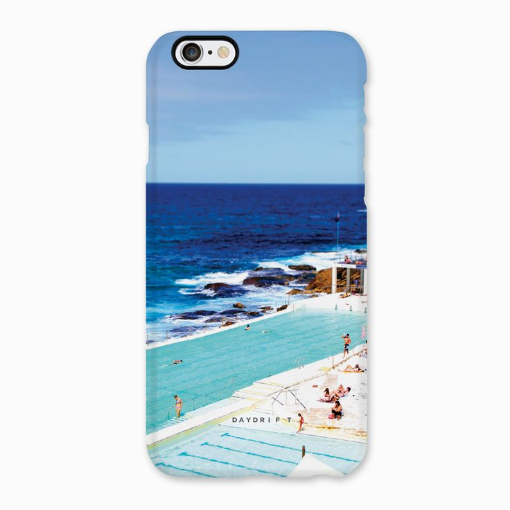 Limited edition luxury iPhone 5 and iPhone 6 Phone Cases featuring a Daydrift photograph of Bondi Icebergs in Bondi Beach Sydney Australia