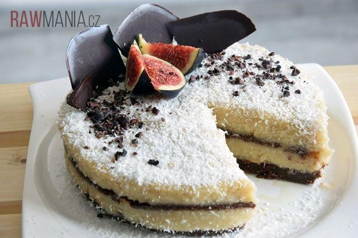 Raw kokosový dort