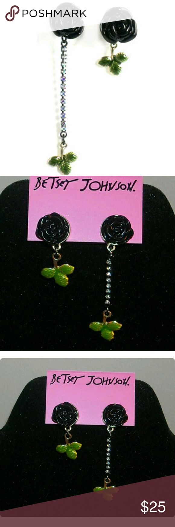Betsey Johnson Dark Forest Mismatch earrings New - Betsey Johnson Dark Forest Mismatch earrings See photo for full description Hard to find and Guaranteed Authentic!! Betsey Johnson Jewelry Earrings