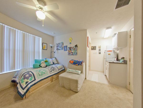 dormsforgators private single dorm with kitchenette and bathroom dorm housing near uf dorm. Black Bedroom Furniture Sets. Home Design Ideas