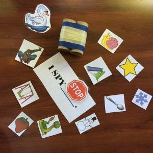 I Spy speech therapy game for articulation