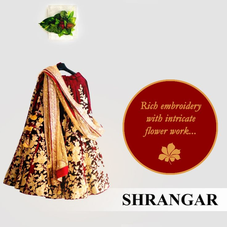 Shrangar presents an exclusive collection of royal and contemporary bridal Lehenga Choli creations for all you brides and bridesmaids to be.The finely created Georgette and Chiffon bridal wears come in various shades and colors. #BridalWear #Fashionista #FashionWear #EthnicWear #Fashionstyle #DelhiFashion #Delhi #DesignerFashion #Bridal #Traditional #Elegance