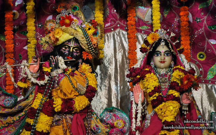 To view Radha Parthasarathi Close Up Wallpaper of ISKCON Dellhi in difference sizes visit - http://harekrishnawallpapers.com/sri-sri-radha-parthasarathi-close-up-iskcon-delhi-wallpaper-007/