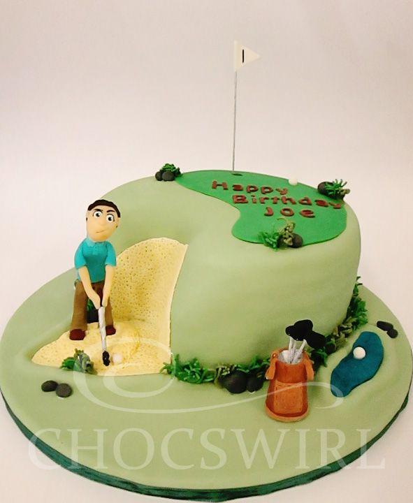 Golfing Cake - Chocswirl Cakes