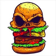 Monster Burger T shirt design