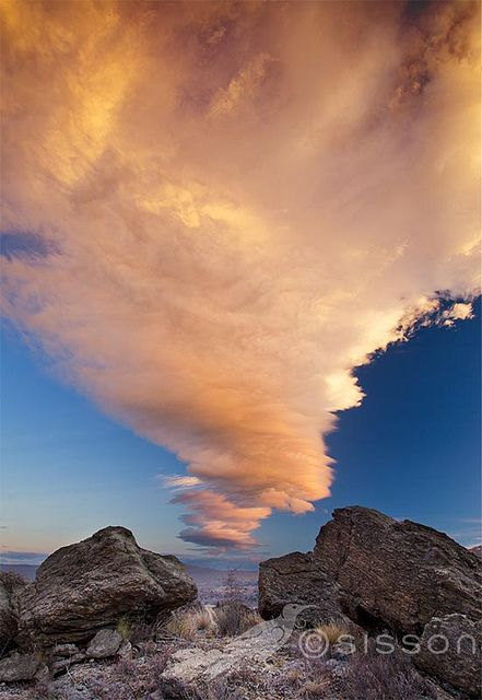 Wow!  Sunset cloud formation. Clyde, Central Otago New Zealand