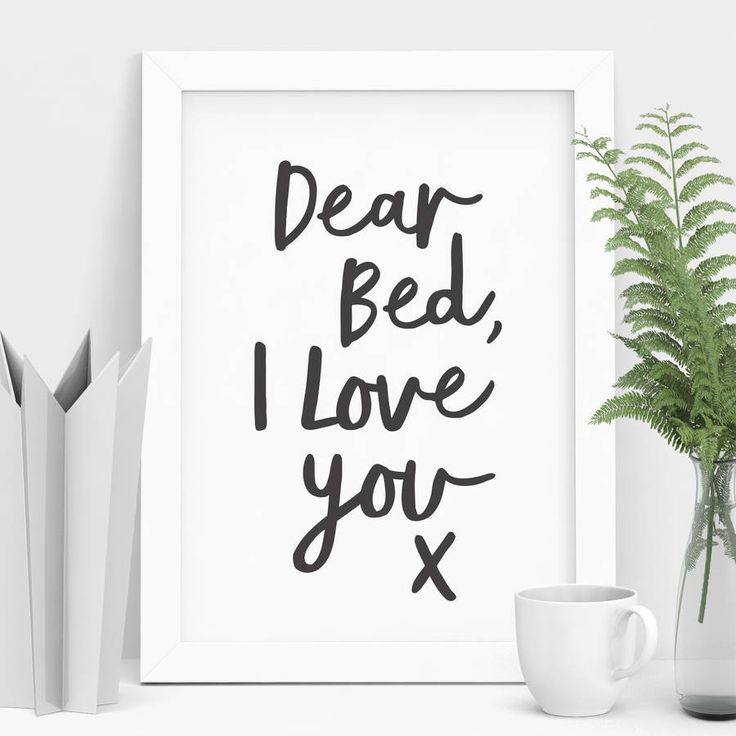 Add a touch of whimsy to you  bedroom decor with our typographic art print, exclusive to Not on the High Street!A limited edition typographic fine art print, hand finished in our studio in Buckinghamshire using fade resistant pigment ink onto exquisite quality giclée museum archival paper. This design is EXCLUSIVE to Not on The High Street with only a limited number of prints available in this run! All of our giclée prints are produced on a museum quality archival fine a...