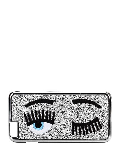 Chiara Ferragni - Accessori - Accessori - Cover per cellulare iPhone 6 Plus con glitter. - SILVER - € 35.00