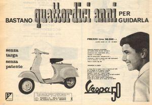 vespa pubblicità anni 60